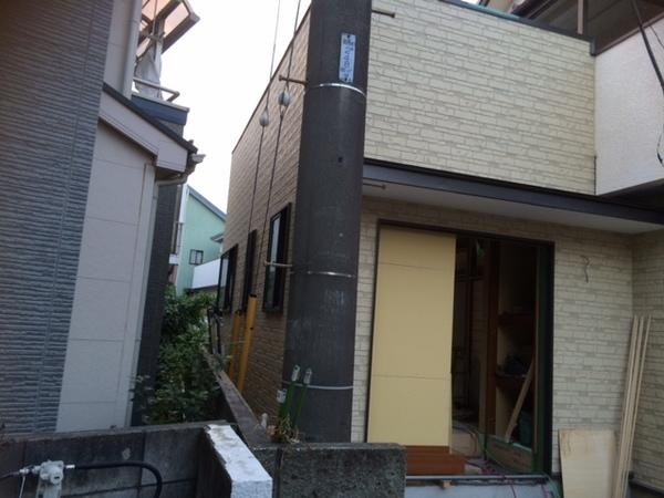 外壁サイディング張り工事