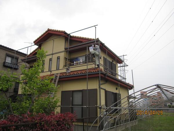 以前新築したお宅の塗装工事に入らせていただいてました。